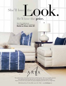 Aria Showroom High Point Market April 2015 Furniture Today ad